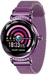 QIANRUNHE Reloj inteligente H2 para mujer, podómetro, monitor de ritmo cardíaco, podómetro, recordatorio de llamadas y mensajes