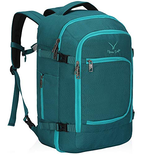 Hynes Eagle Travel Backpack 40L Flight Approved Carry on Backpack, Teal 2018