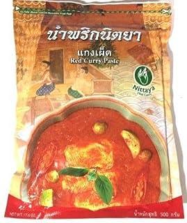 Nittaya Red Curry Paste ニタヤ レッドカレーペースト 500g 红咖喱酱 写真の賞味期限は撮影時のものです。実際とは違う場合があります