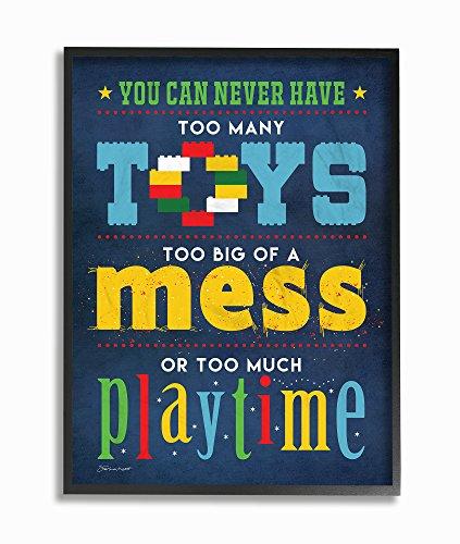 De Stupell Home Decor collectie Toys rommel en de spellen extra groot, Giclée texturized Art, MDF hout, meerkleurig, 40,64 x 103,23 x 50,8 cm