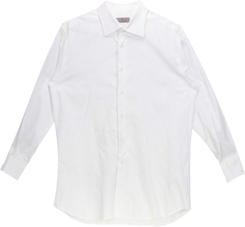 Canali Men's Dress Shirt with Semi-Round Cuffs