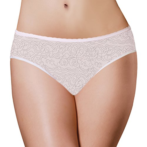 Period Panties 3 Pack Disposable Menstrual Underwear with Build-in Pad by PantiePads, White, Small