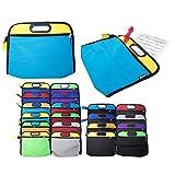 Pochette zippée bicolore pour partitions de musique A4 light blue/ yellow