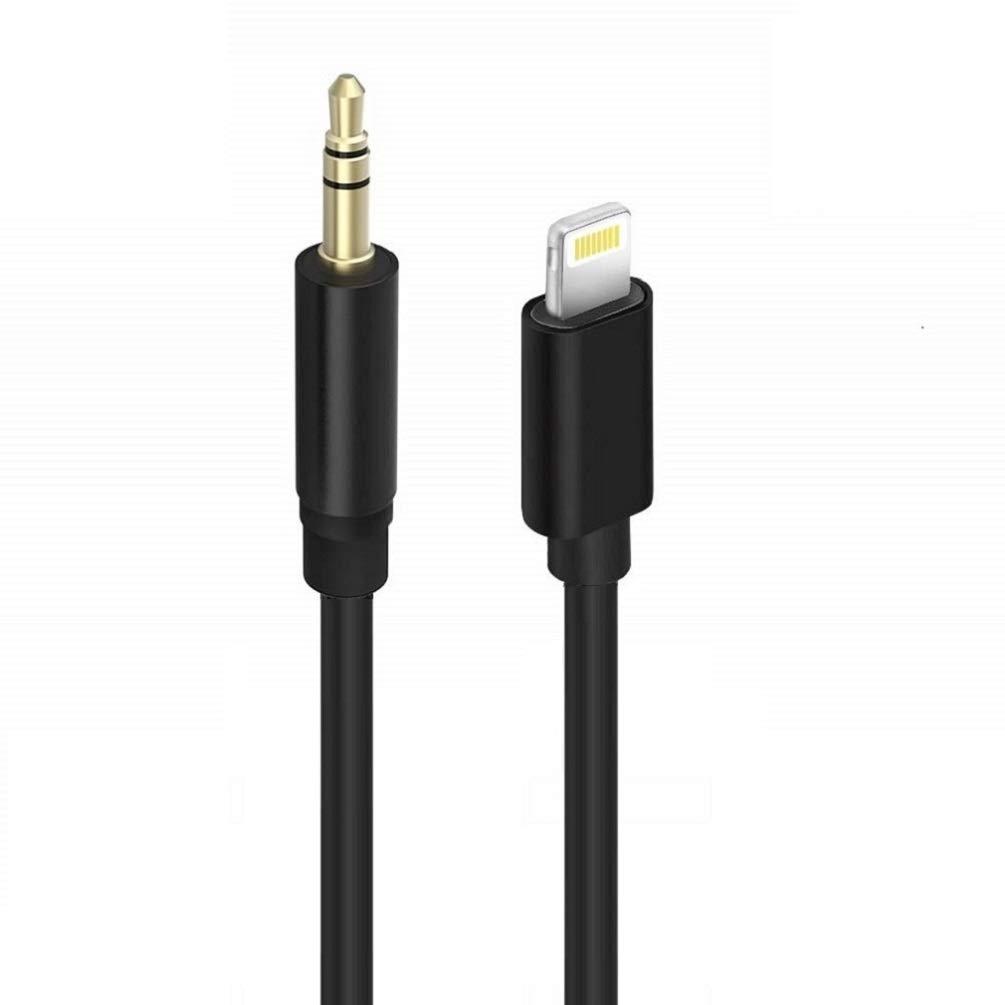 iPad iPod iOS 12 HUIRID 3,5 mm macho est/éreo cable adaptador de audio para coche AUX cable para iPhone iPhone X en coche Cable AUX compatible para iPhone XS