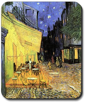 Art Plates Brand Mouse Pad - Van Gogh - The Cafe Terrace