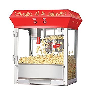 Great Northern Popcorn Red 6 oz Ounce Foundation Old-Fashioned Movie Theater Style Popcorn Popper