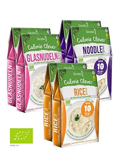 Shirataki Konjak Asia Probierpaket: 2 x Glasnudeln-Style 250g, 2 x Rice-Style 250g, 2 x Noodle-Style 250g