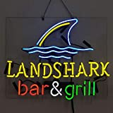 Landshark bar and Grill Beer Bar Pub Store Party Room Wall Windows Display Neon Signs19x15