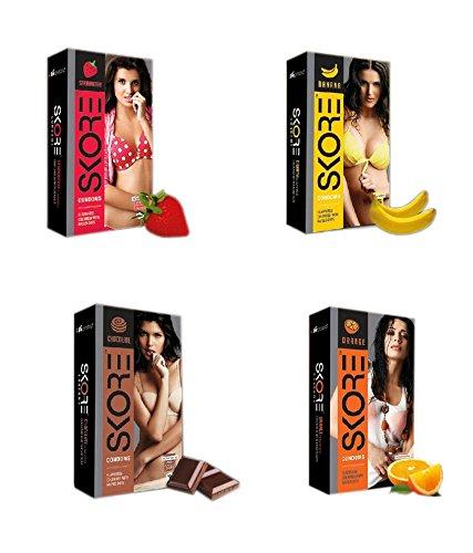 Skore Honeymoon Assorted Condoms Jumbo Pack - 40 Condoms
