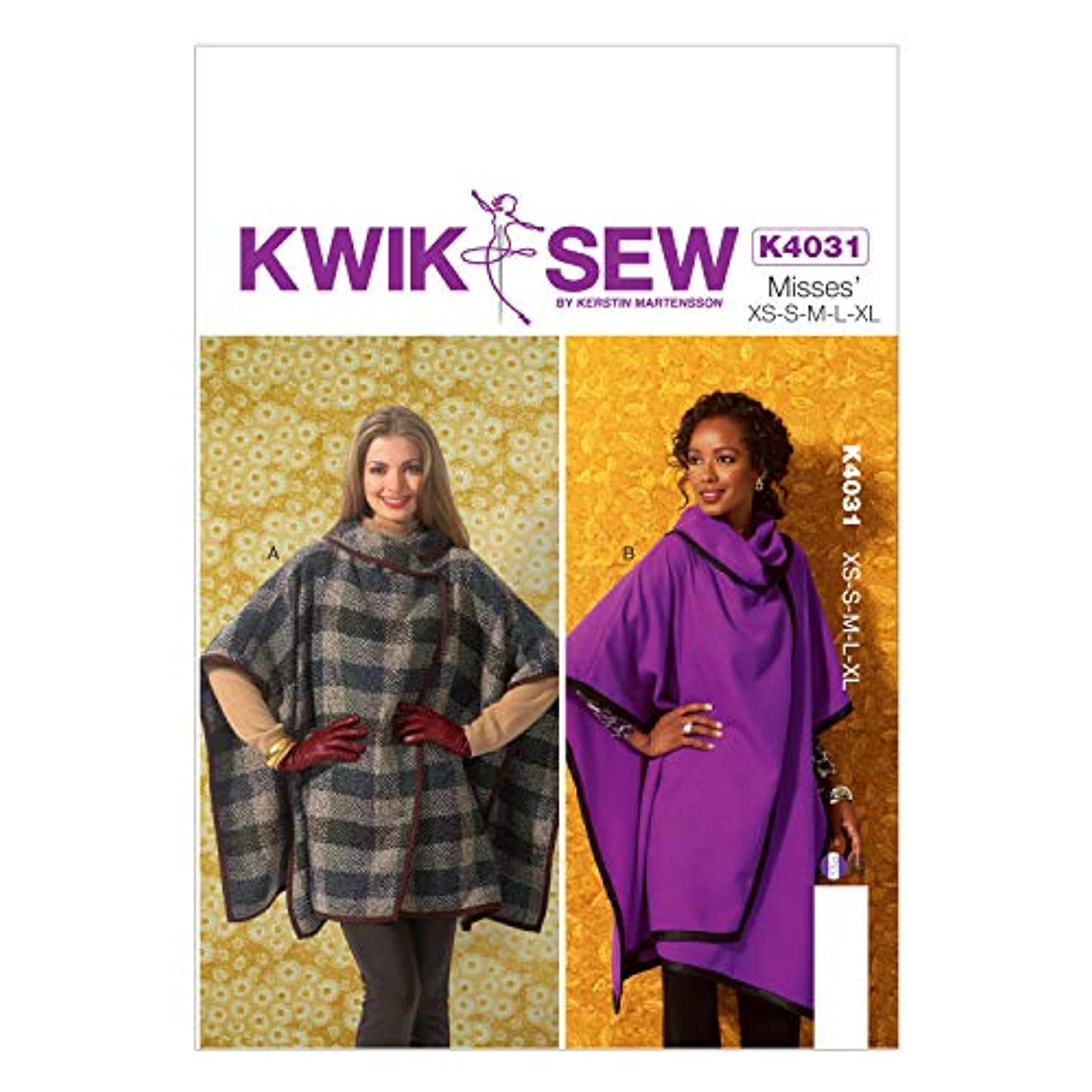 KWIK-SEW PATTERNS K4031 Misses' Wraps Sewing Template
