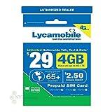 Lycamobile USA Prepaid Sim Cards Include 30 Days Service Plan ($29)