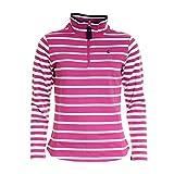Joules Fairdale Womens Zip Neck Sweatshirt - Dark Pink Stripe: 12