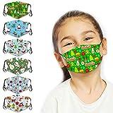 6Pcs Kids Cute Cartoon Face Bandanas Reusable Washable Cloth Face Protector with Adjustable Ear Loops for Boys Girls