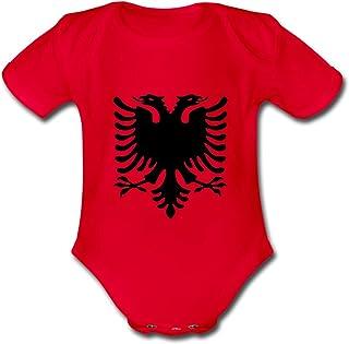 Spreadshirt Kosovo Adler Baby Bio-Kurzarm-Body