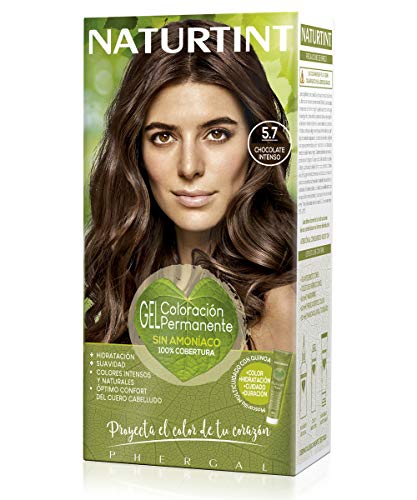 Naturtint Coloración Sin Amoniaco 100% Cobertura de Canas, Ingredientes y Aceites Vegetales, Sin Parabenes y Siliconas, Color Natural, 5.7 Chocolate Intenso