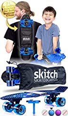 ✅ PERFECT FOR BEGINNERS - Fully adjustable for safer speeds for small children and an easier to carry, lightweight design is why parents trust Skitch as the best skateboard for boys, girls, kids and beginners age 4-13 years old ✅ AWESOME FOR PROS - F...
