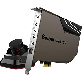 Creative Sound Blaster AE-7 Hi-Res Internal PCIe Sound Card, Quad-Core Processor, 127dB DNR ESS SABRE-class 9018 DAC, Xamp Discrete Custom Bi-amp, Discrete 5.1/Virtual 7.1, Dolby, DTS Encoding (Black)