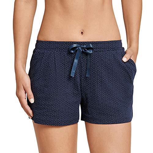 Schiesser Damen Mix & Relax Jerseyshorts Schlafanzughose, Blau (Nachtblau 804), 40
