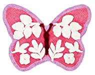Catherine Lansfield Butterfly Rug Pink 50x80 cm