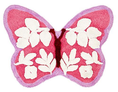 Catherine Lansfield Tapis Papillon Rose