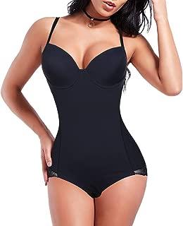 FEDNON Women's Lace Shapewear Bodysuit Seamless Tummy Control Firm Butt Lifter Body Shaper