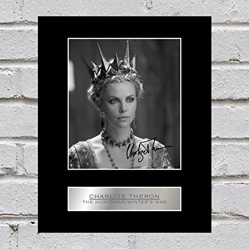Charlize Theron fotografía enmarcada el cazador: Guerra del Invierno