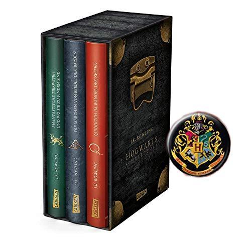 Hogwarts-Schulbücher: Die Hogwarts-Schulbücher im Schuber (Gebundenes Buch) + 1 Harry Potter Button