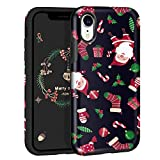 MAXCURY for iPhone XR Case in 6.1 Inch, [Eternal Series] Slim Hybrid Shock Absorption Hard Shell with Soft Rubber Bumper Protective Case Cover for Merry Christmas Day