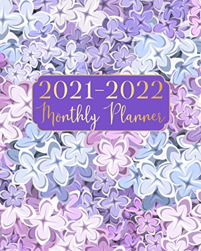 2021-2022 Monthly Planner: Beauty Purple 24 Months Schedule Organizer January 2021 to December 2022 With Holidays and inspirational Quotes
