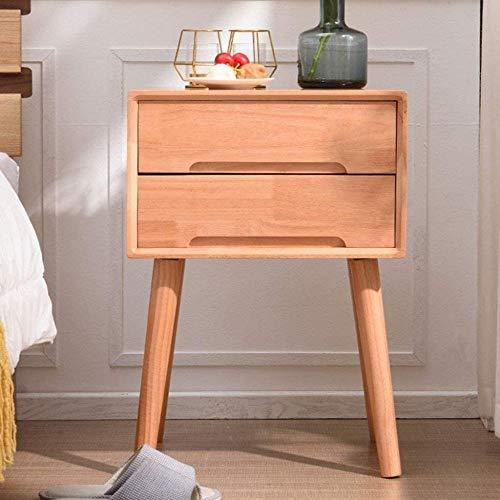 Bath chair Mesita de noche de madera maciza para dormitorio nórdico, simple y moderno, de 40 cm de ancho, mesita de noche sencilla CHFYG (color: madera, tamaño: A)