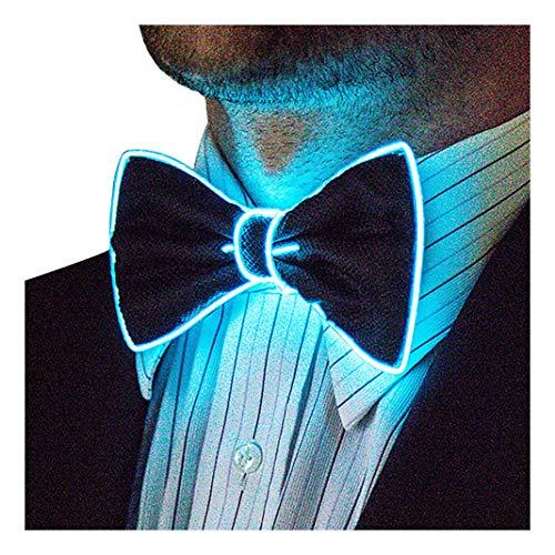 Light Up Bow Tie, Aqua by Neon Nightlife | Men's Glow in the Dark LED Tie