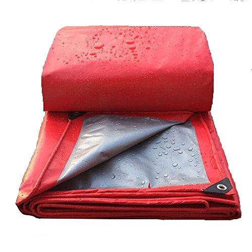 Pengbu MEIDUO Bches Bche Imperméable Super Heavy Duty - 16mil Épais - Rouge/Ruban Bche Réversible 0.4 mm Épaisseur 200g/m² pour l'extérieur (Couleur : Red, Taille : 10*12m)