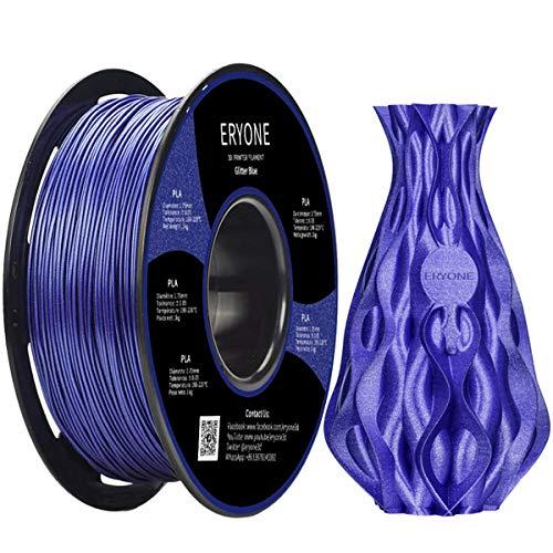 Filament PLA 1.75mm Sparkly Black, Glitter Black, ERYONE PLA Filament For 3D Printer and 3D Pen, 1KG, 1 Spool
