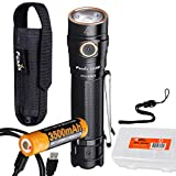 Fenix LD30 1600 Lumen Everyday Carry Rechargeable Dual Fuel LED Flashlight with LumenTac Battery Organizer