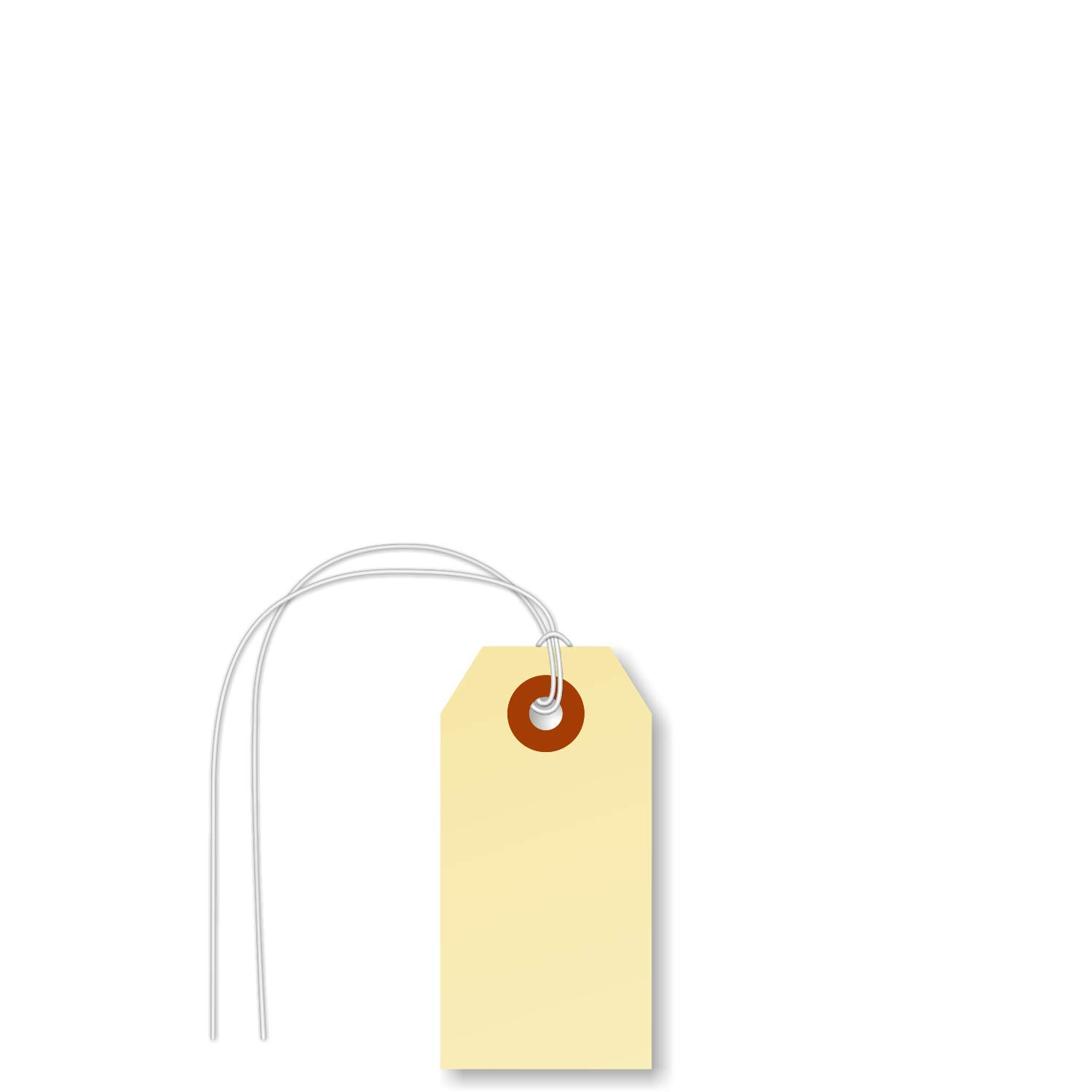 SmartSign Pack of 1000 Blank Tags New Orleans Mall String Deluxe Shipping Attached with