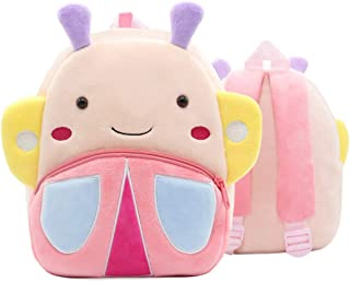 COOFIT Girls Backpack Cute Butterfly Toddler Backpack Kids Plush Animal Backpack