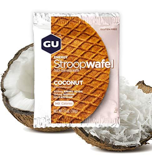 Gu Energy Stroopwafel, Gluten Free, Coconut Sports Nutrition Waffle, 16 Count
