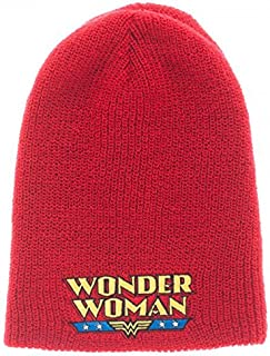 DC Comics Womens Wonder Woman Reversible Knit Hat Standard