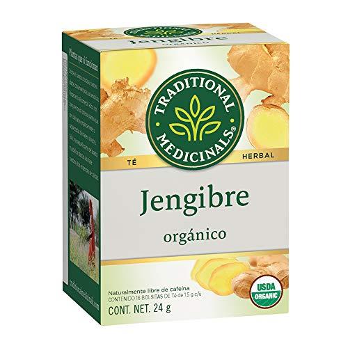 Traditional Medicinals Té orgánico de Jengibre, Ligeramente picante con matices agridulces., 24 gramos