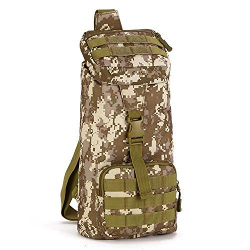 Outdoor Chest Sac épaule équitation Sac Messenger Loisirs bagages en nylon 20 * 41 * 13cm , 4