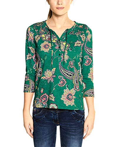 Cecil Damen 314723 TOS Paisley Tunic T-Shirt, Lucky Clover Green, X-Large
