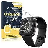 UniqueMe [6Pack] Protector de Pantalla para Fitbit Versa 2, película Transparente de Burbuja de TPU...