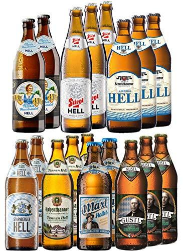 Kalea | ausgewählte Bierspezialitäten im Probierpaket | Biere von Privatbrauereien | Geburtstags-Geschenk für Männer (18 x 0,5l)