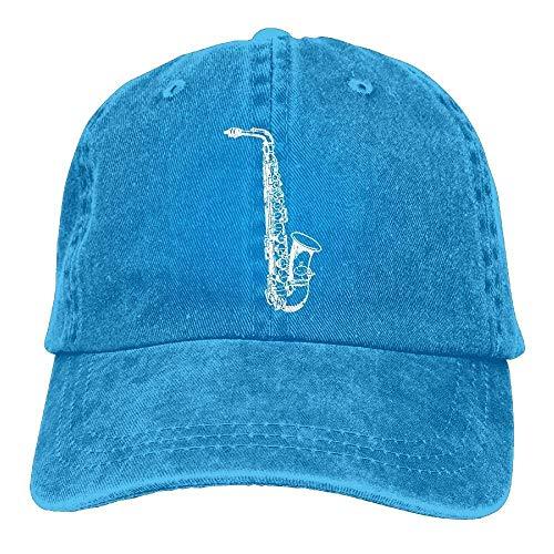 AOHOT Herren Damen Baseball Caps,Hüte, Mützen, Classic Baseball Cap, Adult Denim Cap Alto Saxophone Classic Dad Hat Adjustable Plain Cap