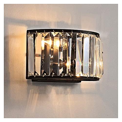 Ckssyao lámpara de Pared Lámpara de Pared empotrada clásica Sala de Estar/Lámpara de Pared de Metal Interior Aplique de Cristal de Modelado Tradicional