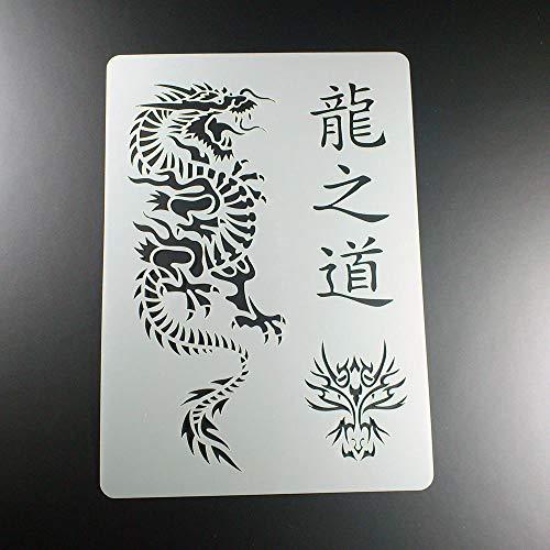Schablone Kanji Weg des Drachen China Dragon - BT05