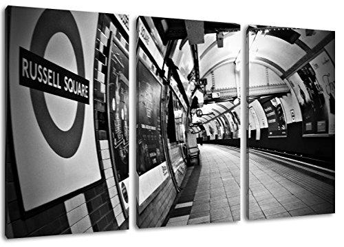 Russell Square station london schilderij op doek, 3-delige (Totale Grootte: 47.2