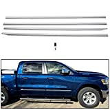 ECOTRIC Chrome Body Side Molding Trim Mouldings for Dodge Ram 1500 2019-2020 Crew Cab New Body Style