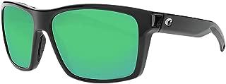 Costa Del Mar Costa Del Mar SLT11OGMGLP Slack Tide Green Mirror 580G Shiny Black Frame Slack Tide, Shiny Black Frame, Green Mirror 580G, One Size