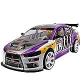 Nsddm Coche RC 1/10, Vehículo RC eléctrico de Alta Velocidad a 70km/h Coche teledirigido 2.4G Carreras de Coches 4WD Drift Coches de Rally Todo Terreno...